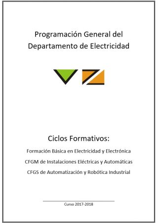 Programacion general electricidad instituto